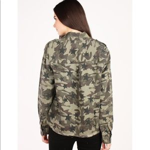 Rails Tops - Rails Camo Star Print Lightweight Shirt Jacket